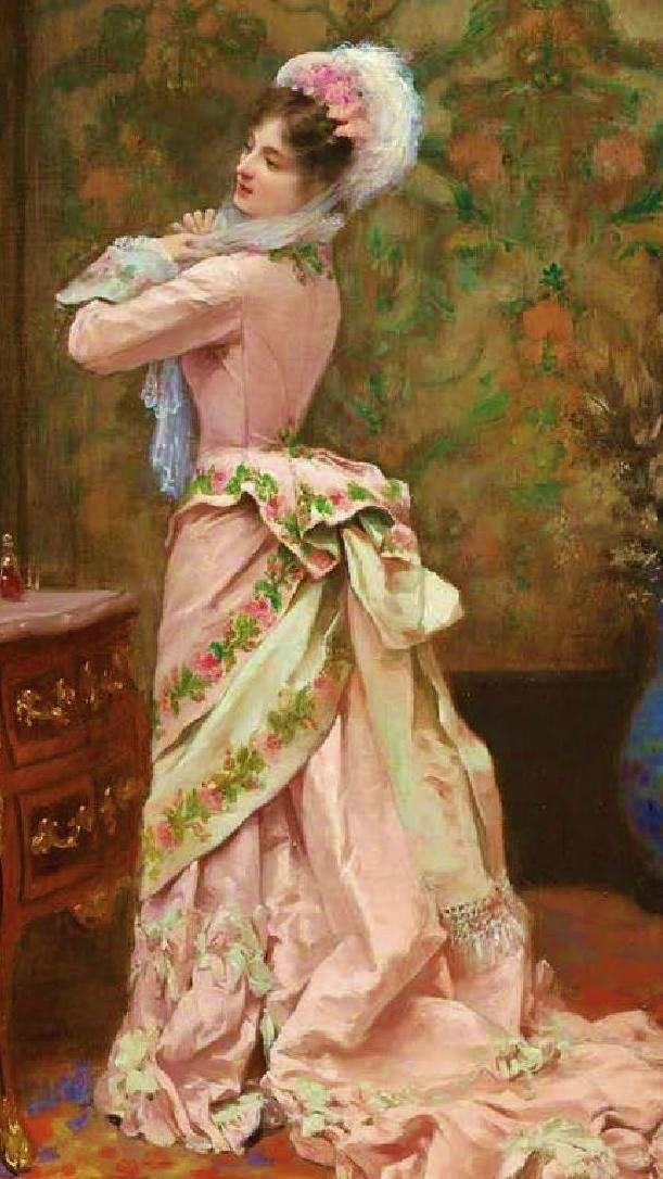"1877, ""Toilette"" by Jules James Rougeron"