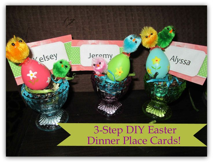 42 best easter traditions images on pinterest easter traditions 3 step diy easter dinner place cards via real reviews worldmarket easter negle Images