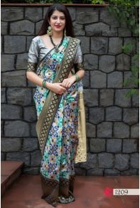 f984eb088b Grey Weaved Silk Manjubaa Clothing Saree Cataloge Number:-9361 Whatsapp :-  +91