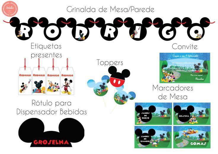Decoração para festa com o Tema a Casa do Mickey