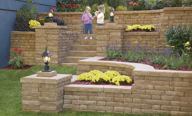 style of wall column different color backyard on wall blocks id=73246