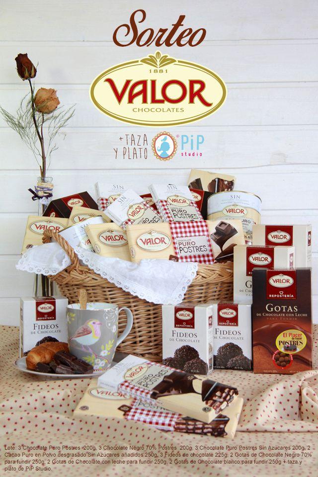 Sorteo: Lote de Chocolates Valor   taza y plato de PiP Studio