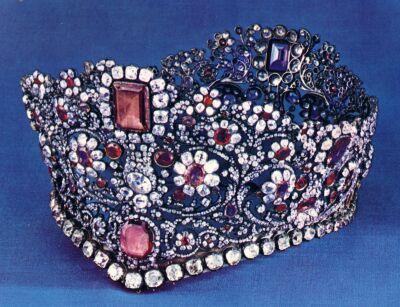Bavarian Royal Jewels ruby and diamond parure
