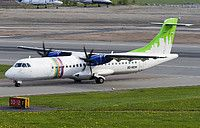 Braathens Regional ATR 72-500 (72-212A) SE-MDH aircraft, skating at Sweden Stockholm Bromma Airport. 20/05/2016.