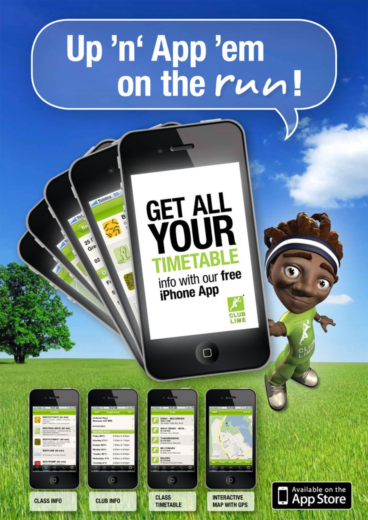 2B Advertising & Design - Club Lime iPhone App