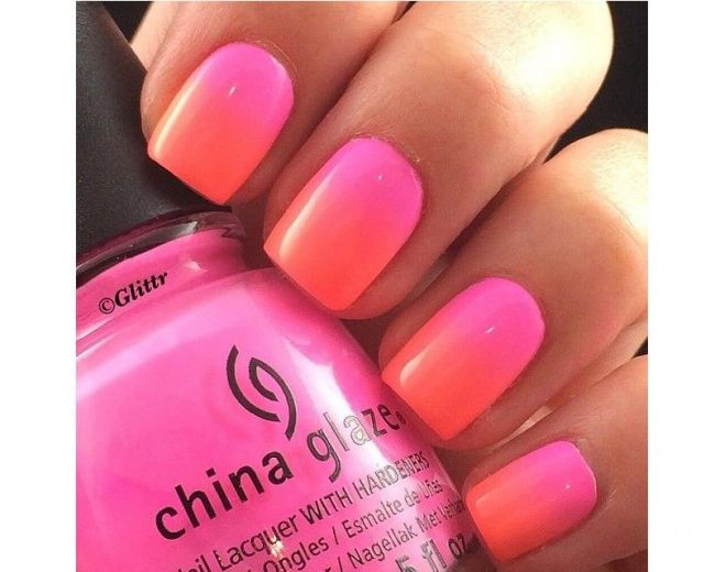 Neonowy manicure ombre - super pomysły na kolorowe paznokcie - Strona 18