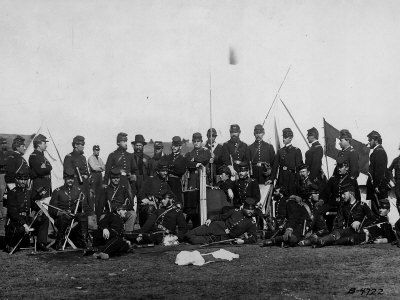 11 best signal corps posters images on pinterest film posters civil war group of officers in training gathered around their chief major albert myer who is seated c wearing field officers double row of brass publicscrutiny Images