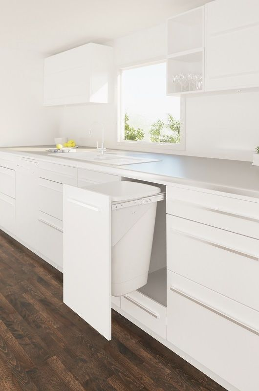 Our top selling pull out kitchen bin range, Tanova Simplex systems run smoothly on ball bearing slides and their compact size maximises space efficiency.  Bin carriage is manufactured from 1.2mm gauge steel for strength and durability.  Most Tanova Simplex kitchen rubbish bin models are available with the option of soft close and many with push to open.  A wide variety of bucket combinations ensures your needs are met; from 4x6L to 1x50L and many in between.