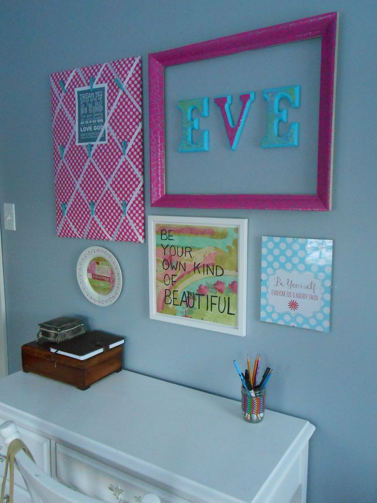 DIY wall collage for tween room.