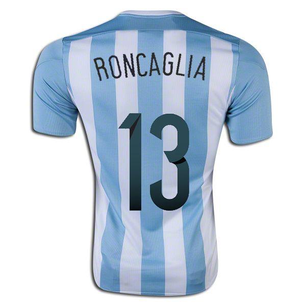 Facundo Roncaglia 13 2015 Copa America Argentina Home Soccer Jersey ...