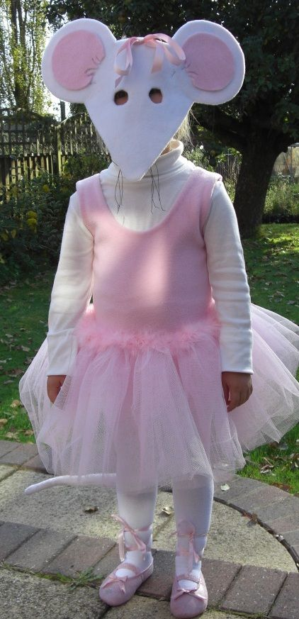 Angelina Ballerina costume. I do believe this is the scariest costume I've seen!world book day