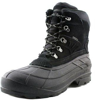 Kamik Fargo Men Round Toe Suede Black Hiking Boot.