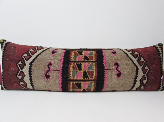 16x48 extra long body pillow kilim pillow king size pillow sham big pillow case bed pillow king pillow sham oversized pillow long pillow K42
