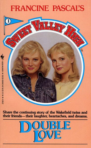 Blond hair, blue eyes and perfect size 6 figures.  One twin is shy and one is outgoing.....I USED TO READ THIS BACK IN THE DAY!!!