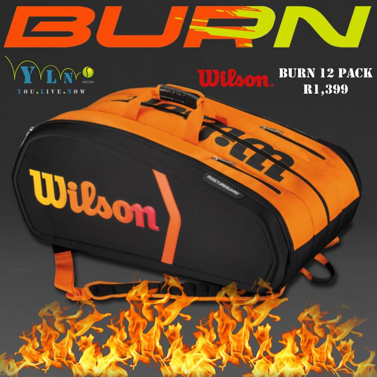 The bold and bright Burn 12 Pack is an excellent choice the player looking to carry all their gear to the courts. There are three large main compartments which can hold up to 12 rackets total and the bag's light weight design doesn't make it feel cumbersome. With an outside accessory pocket to keep your smaller items organized, travel will be easy with the padded and adjustable backpack straps on the bottom of the bag and two strategically placed grab handles.