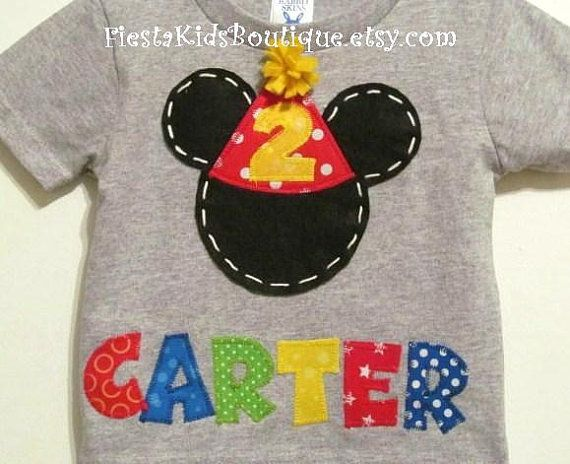 Mickey Mouse Birthday Shirt Personalized By FiestaKidsBoutique