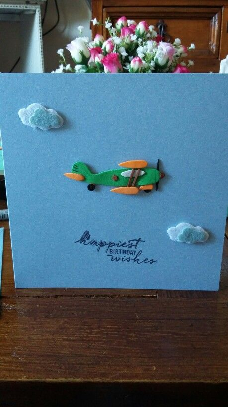 Birthday card for a plane enthusiast