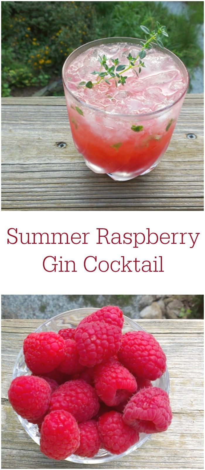 Cool down with this vegan Summer Raspberry Gin Cocktail!