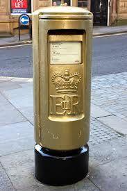 Golden post box for Hannah Cockroft