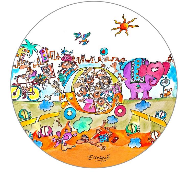 접시에 사용된 인도 작가 그림 이미지