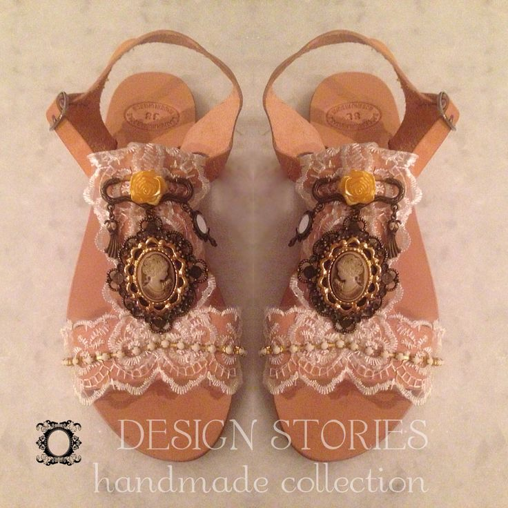 "Handmade leather sandals ""Luxury vintage"" designstories handmade collection by Eleni petraki"