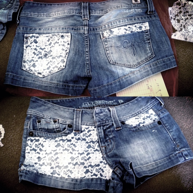 diy lace shorts sewing pinterest diy lace shorts