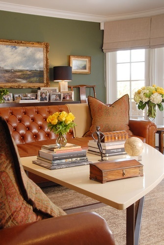 """Farrow & Ball """"Calke Green"""" a fabulous color that doesn't feel forced or obnoxiously bright. It has a preppy, old world feel."""