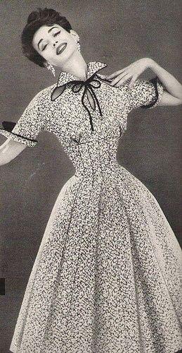 Dorian Leigh in a Lilli Ann Dress 1954.