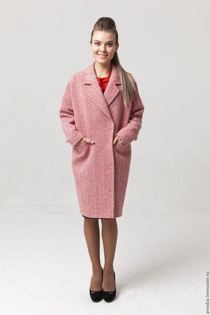 Деловое пальто пальто зимнее пальто из кашемира и шерсти пальто классика пальто женское пальто оверсайз пальто теплое пальто утепленное пальто на работу пальто красное двубортное пальто оверсайз