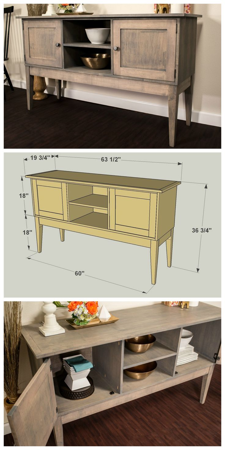 How To: Build a Classic Sideboard to Maximize Your Storage and Style! FREE PLANS at buildsomething.com