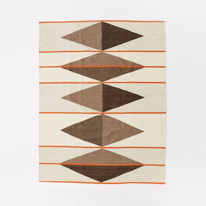 Terrazzo Wool Dhurrie Rug, Natural Gray, 8'x10'