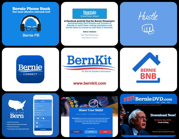 Bernie's Volunteer Toolkit - BernKit - All the online tools you can use to help make Bernie the next president of these United States. Pick and choose, volunteer, feel the bern! Don't see your app?