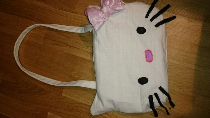 Homemade Hello Kitty handbag.