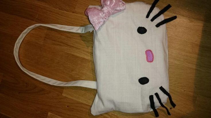 Homemade Hello Kitty handbag.