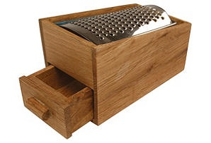 One Kings Lane - Scandinavian Table & Kitchen - Oak Cheese Grater w/ Drawer