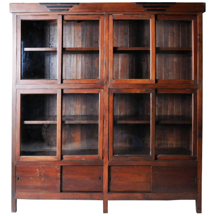 British Colonial Style Bookcase | See more antique and modern Furniture at https://www.1stdibs.com/furniture/asian-art-furniture/furniture