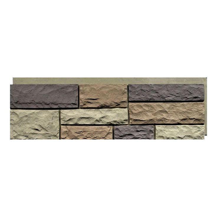 NextStone Random Rock New England Mocha 15.5 in. x 48 in. Faux Stone Siding Panel (4-Pack)