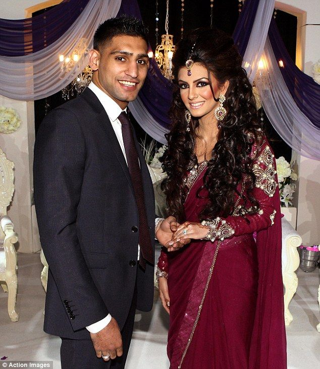 Wife to be: Amir Khan became formally engaged to Faryal Makhdoom at the couple's lavish engagement party last night at the Reebok Stadium in...