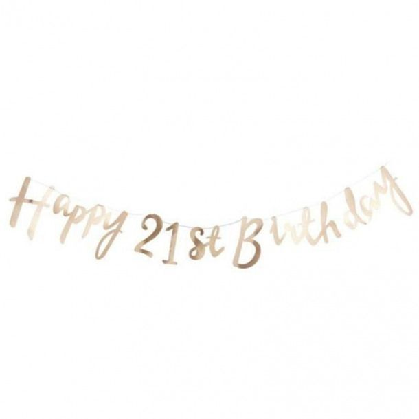 Gold Foiled /'Happy Birthday/' Party Bunting//Garland 1.5m
