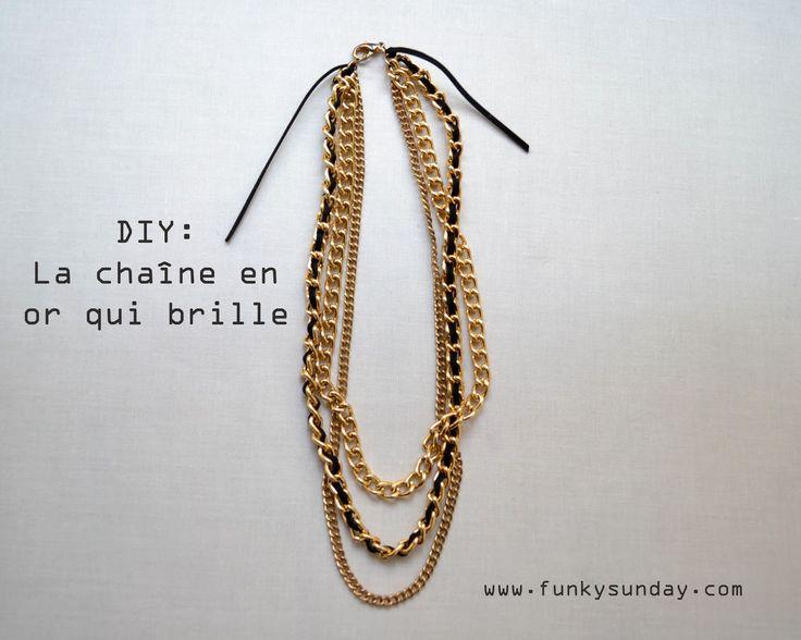 Attractive Bijou A La Mode #10: Funky Sunday: DIY: La Chaîne En Or Qui Brille DIY: Le Collier En