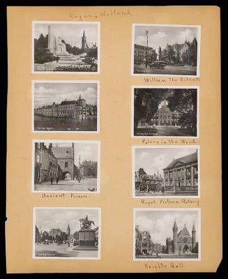 Althea Hurst scrapbook, 1938. Hague (Netherlands)