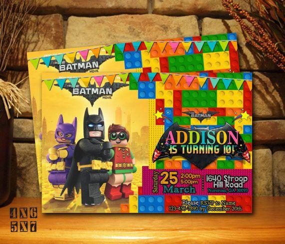 invitacin de lego batman lego batman cumpleaos fiesta