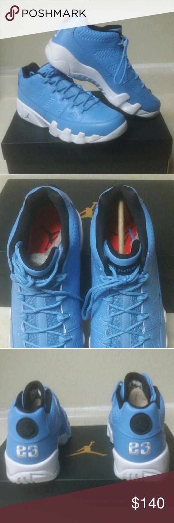 Jordan 9 low Panthone University Blue (S 8,9.5,&10 Air Jordan 9 low Panthone University Blue  100% authentic Jordan Shoes Athletic Shoes