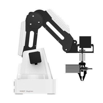 DOBOT Magician Advanced Robotic Arm Basic Version US PLUG – WHITE AND BLACK
