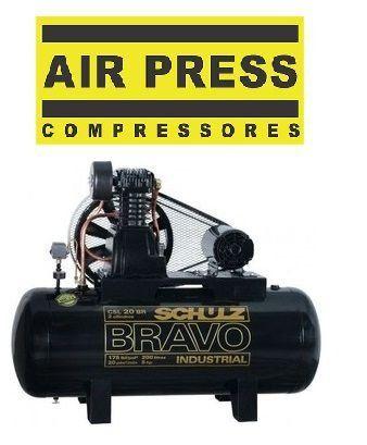 Compressor de Ar CSL 20 Bravo reservatório 200L Trifásico Schulz
