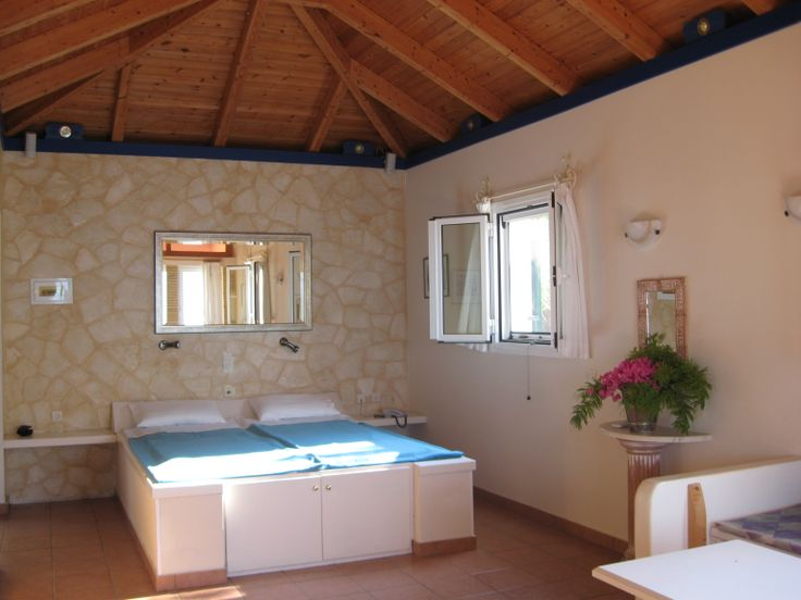 Get away for couples and families with toddler - Turtle Island Sea View Studio Type A with sep. bathroom, kitchenette and sea view balcony @ Villas Cavo Marathia, hotel and apartment residence at Zakynthos Zante Island, Greece.