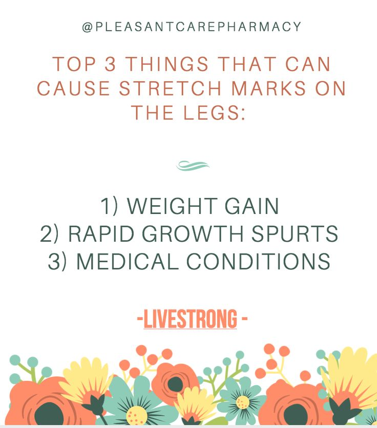 What causes stretch mark on the legs? Please read the article below to learn more. If you have any questions about your skin, feel free to call us at 510-200-9984 at Pleasant Care Pharmacy. #skincare #stretchmarks #pleasantcarepharmacy #bayarea #hayward #drchauphan #facts