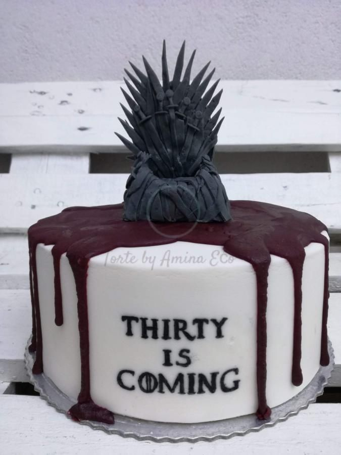 Brilliant Game Of Thrones Cake For The 30Th Birthday Of My Dear Friend Birthday Cards Printable Nowaargucafe Filternl