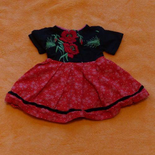 Toll-Puppen-Dirndlkleid-mit-Mohnblume-schwarz-rot-wunderschoen