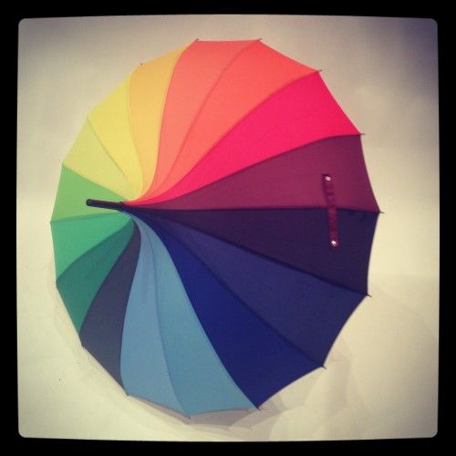 Rainbow Pagoda Style Umbrella - £14.95 - http://www.loveumbrellas.co.uk   I had to have this to brighten up a grey day.